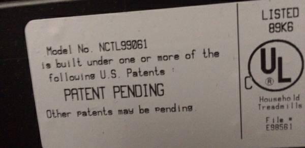 nordictrack 1750 patent